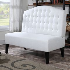 Banquette Button Tufted Loveseat by
