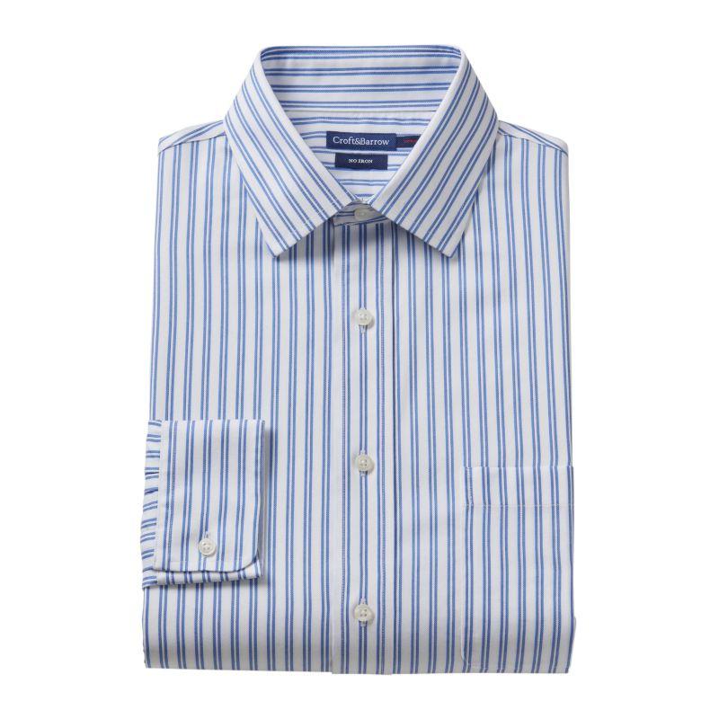 ... Barrow® Slim-fit Solid No Iron Point Collar Dress Shirt | DealTrend