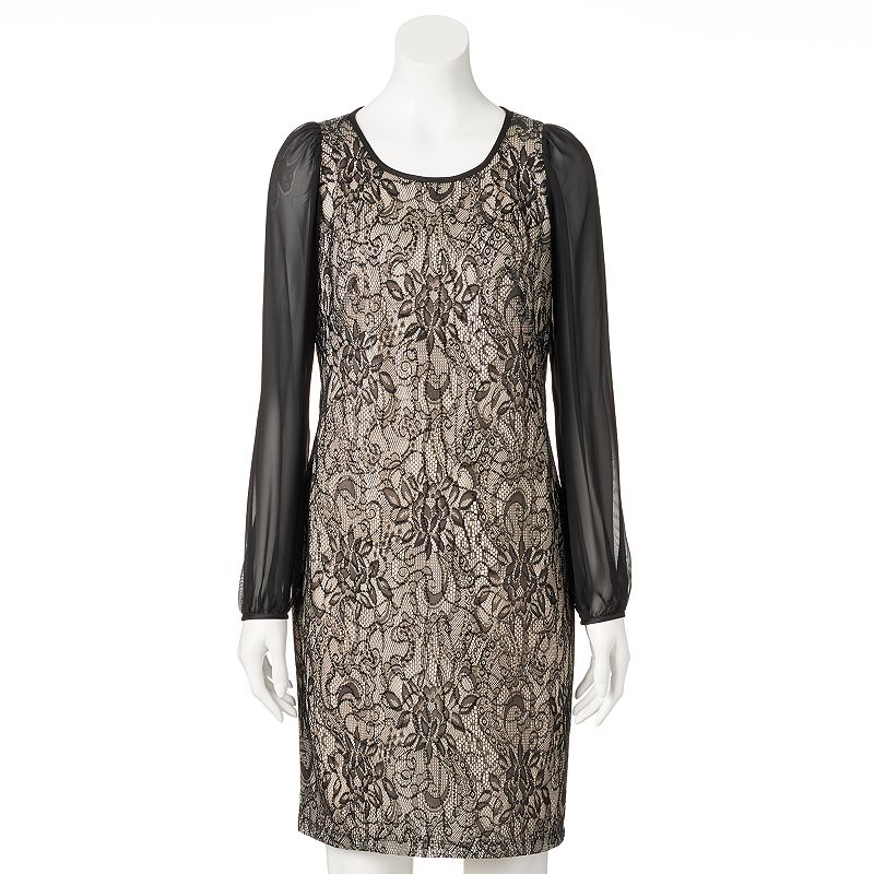 Women's DR by Donna Ricco Sequin Lace Shift Dress