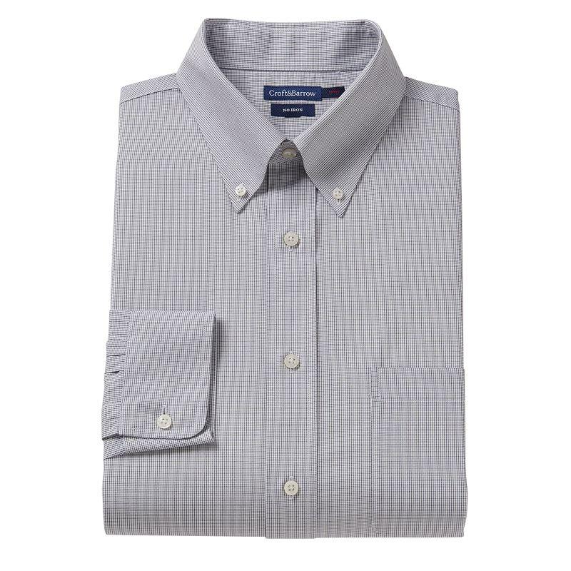 Men 39 s croft barrow fitted no iron dress shirt dealtrend for Men s no iron dress shirts