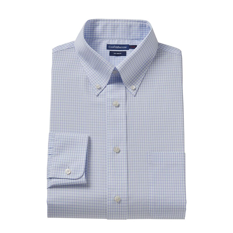 Men's Croft & Barrow® Fitted No-Iron Dress Shirt
