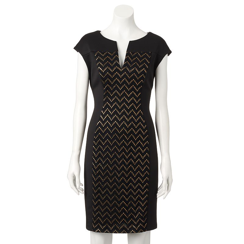 Women's Connected Apparel Chevron Sheath Dress