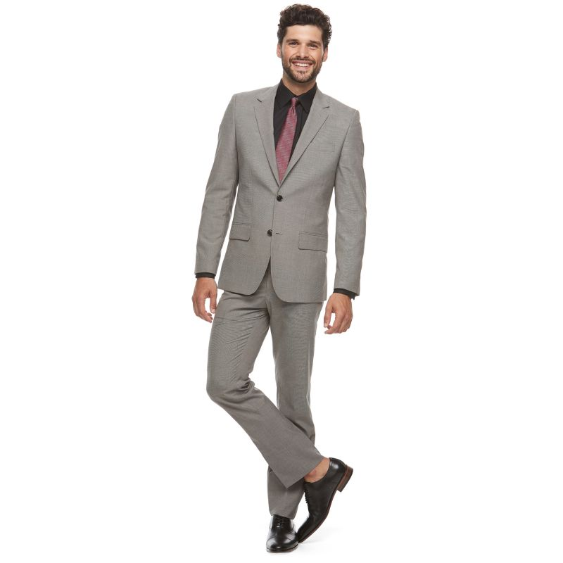 Men's Apt. 9® Slim-Fit Unhemmed Suit, Size: 36S 28, Med Grey thumbnail