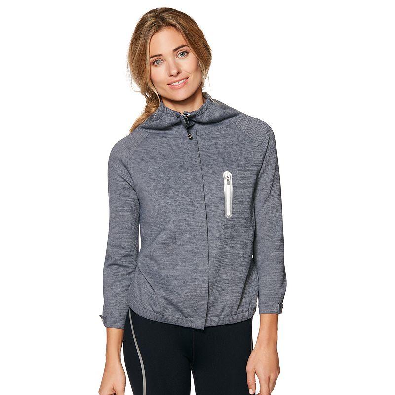 Women's Shape Active Metallic Crop Workout Jacket