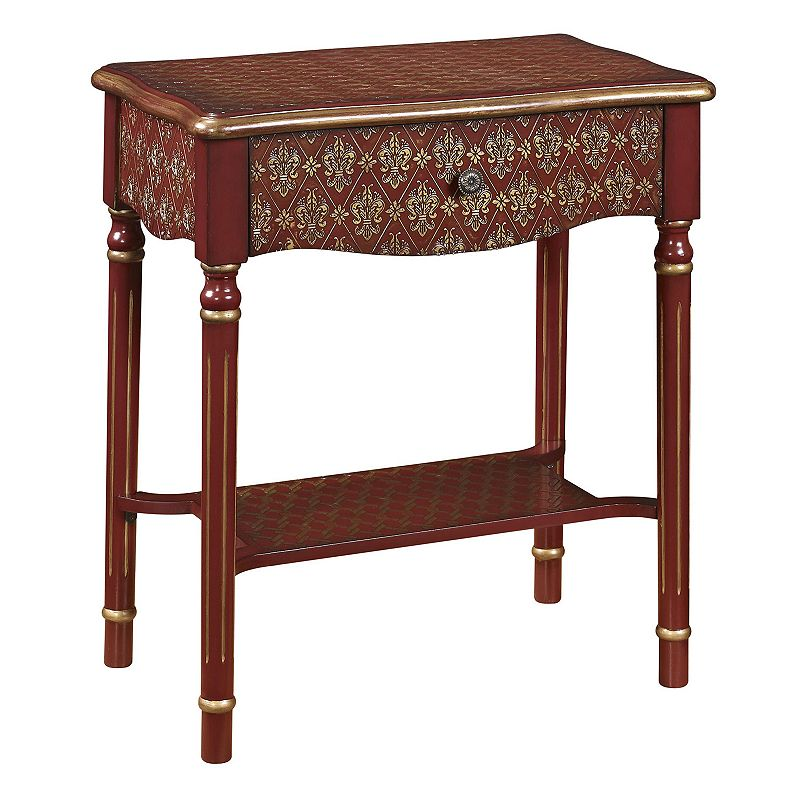Elegant Scroll End Table