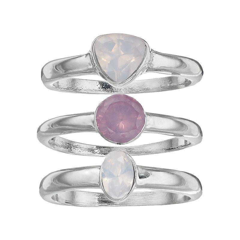 Jennifer Lopez Geometric Ring Set