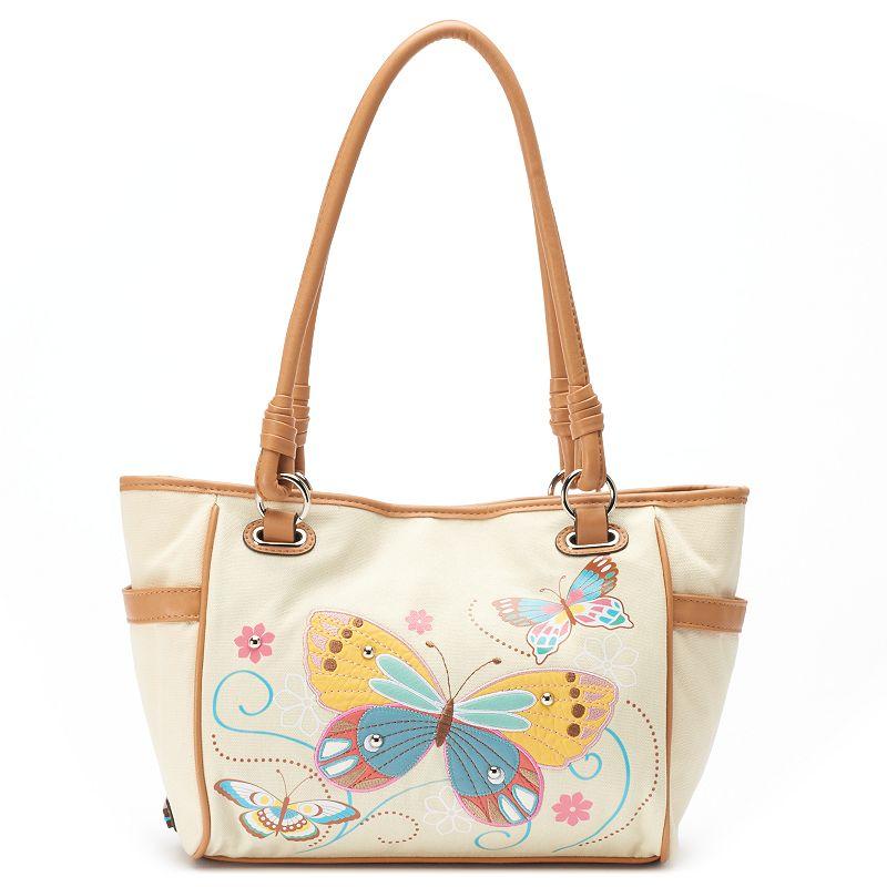 Rosetti Savannah Garden Butterfly & Floral Shopper