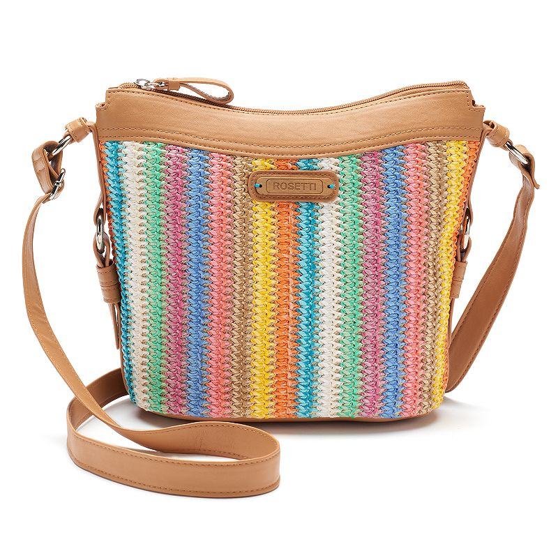 Rosetti Savannah Colorful Stripes Crossbody Bag