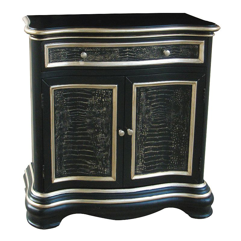 Faux Snakeskin Hall Cabinet