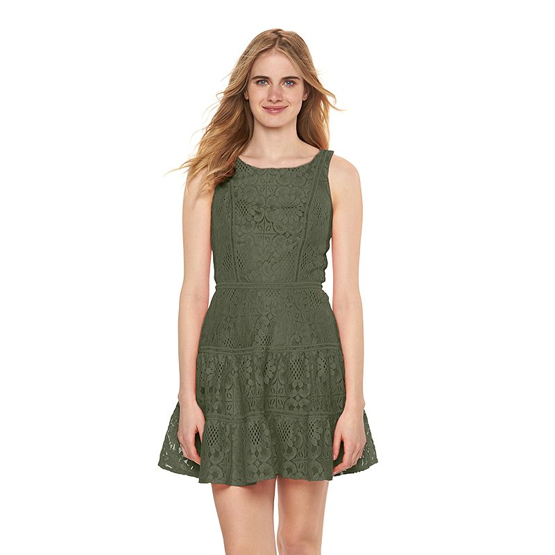 Women's LC Lauren Conrad Tiered Lace Fit & Flare Dress