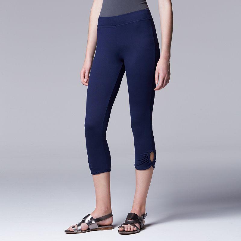 Simply Vera Vera Wang Women's Ruched Capris Leggings