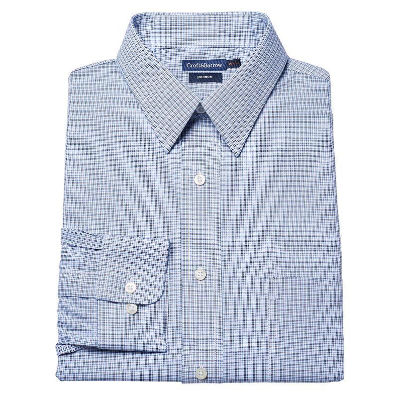 Big & Tall Croft & Barrow® Spread-Collar Dress Shirt