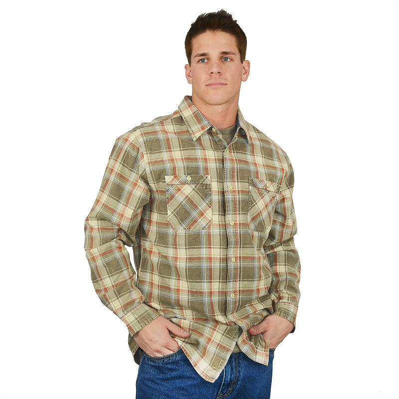 Men's Stanley Plaid Heavyweight Flannel Button-Down Shirt
