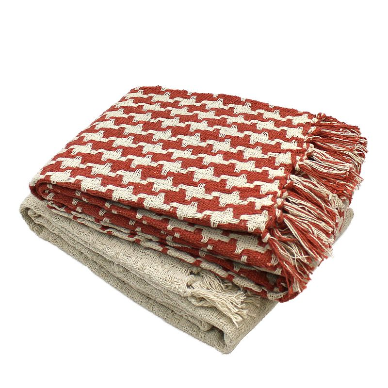 2 pack Houndstooth Throws