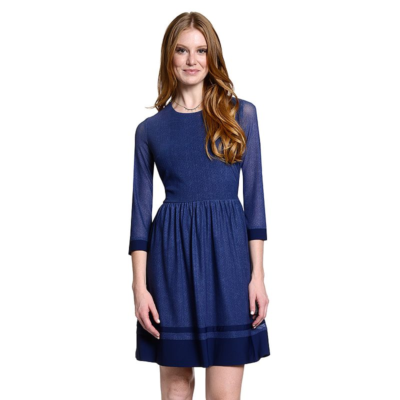 Women's Indication by ECI Fit & Flare Denim Dress