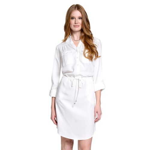 Women's Indication by ECI Solid Shirtdress