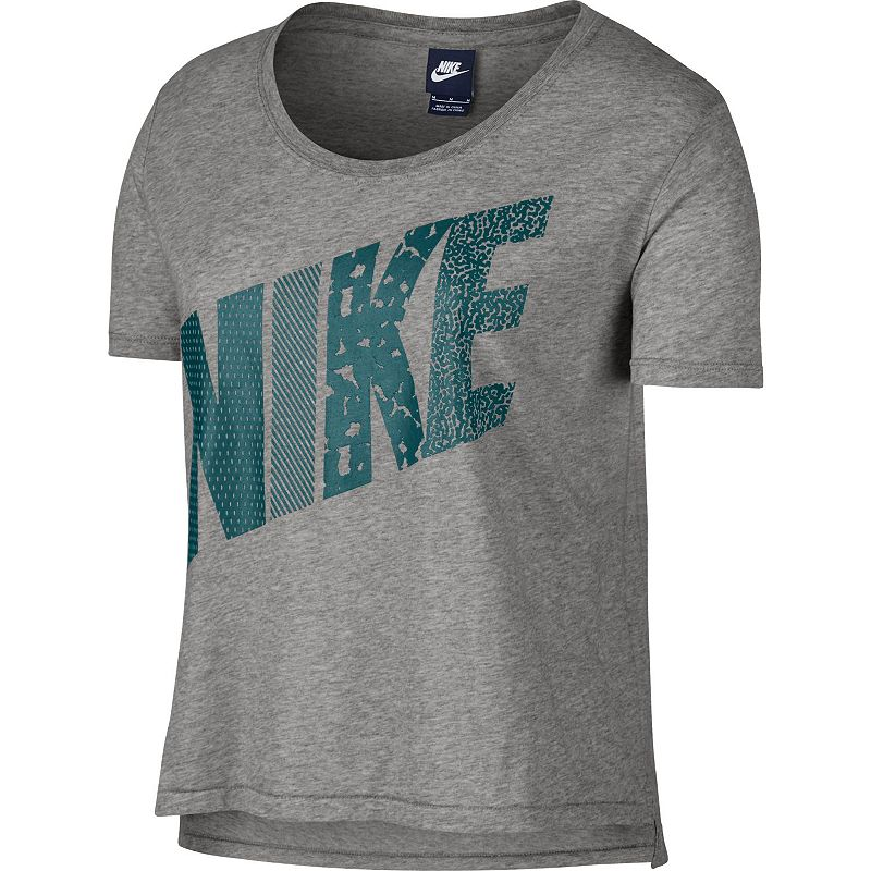 Women's Nike Prep High-Low Mixed Print Scoopneck Tee