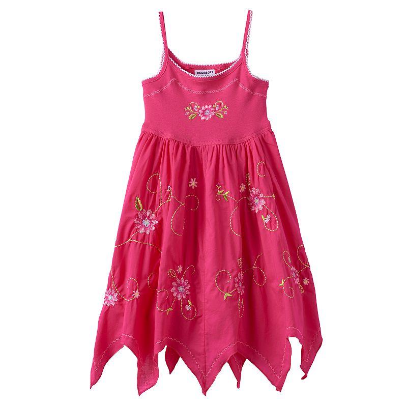 Girls 4-6x Blueberi Boulevard Embroidered Handkerchief-Hem Sundress