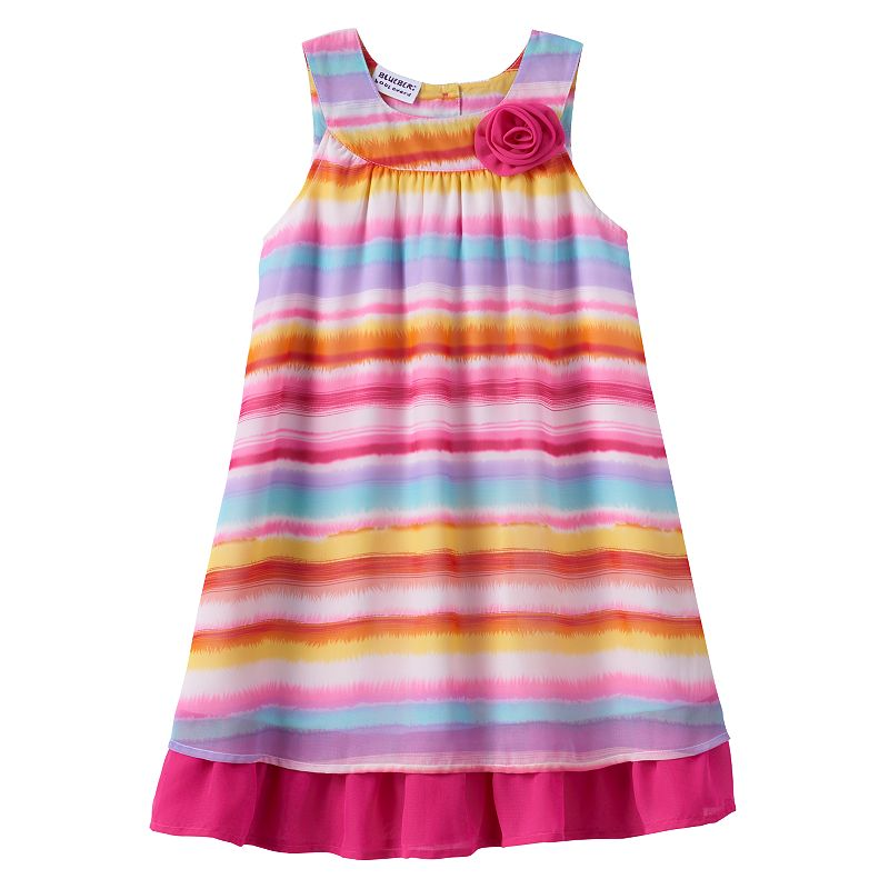 Girls 4-6x Blueberi Boulevard Striped Chiffon Swing Sundress