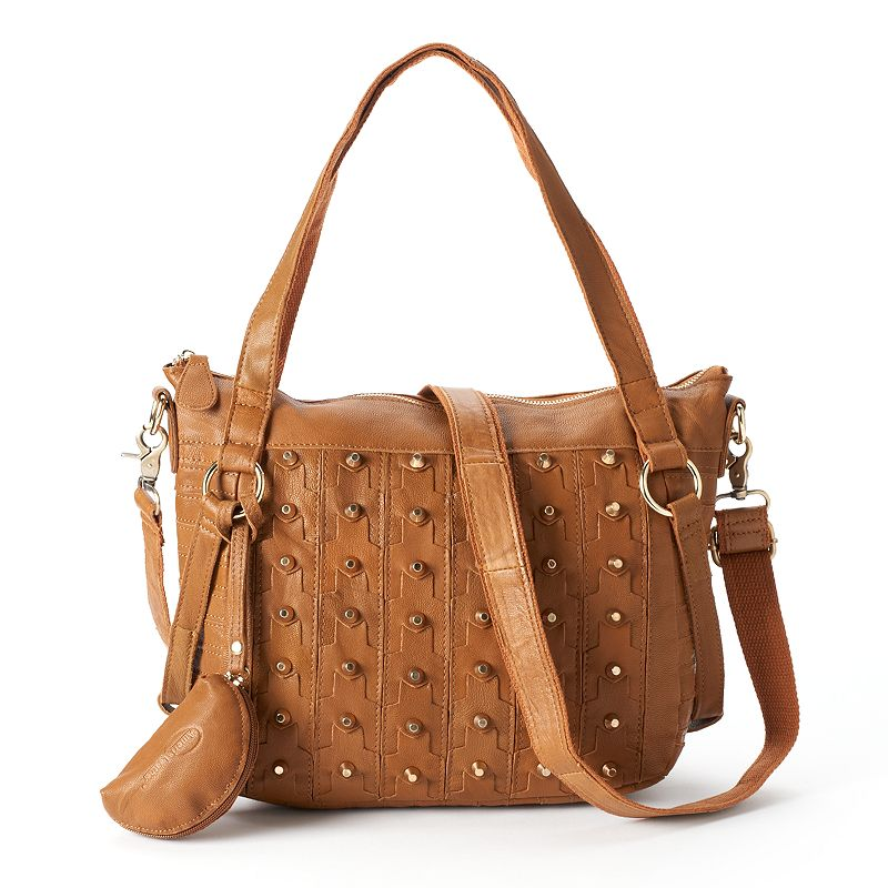 AmeriLeather Dinodaria Leather Shoulder Bag