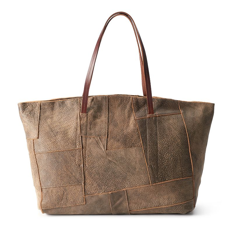 AmeriLeather Oversized Leather Tote