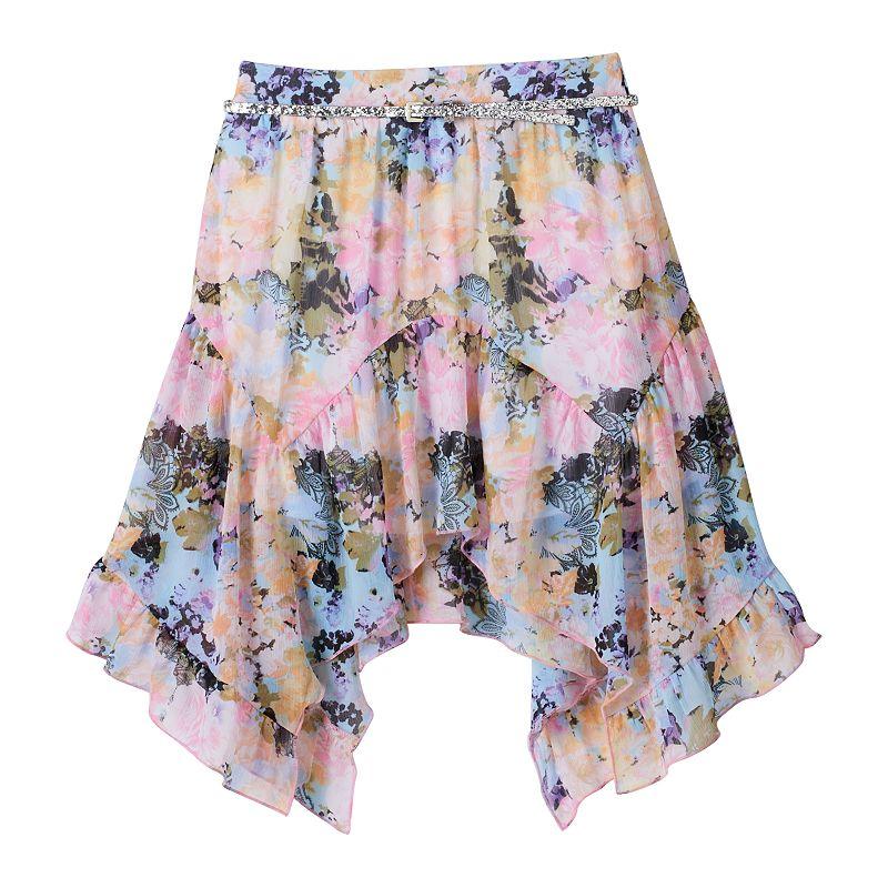 Disney D-Signed Alice in Wonderland Girls 7-16 Belted Floral Skirt