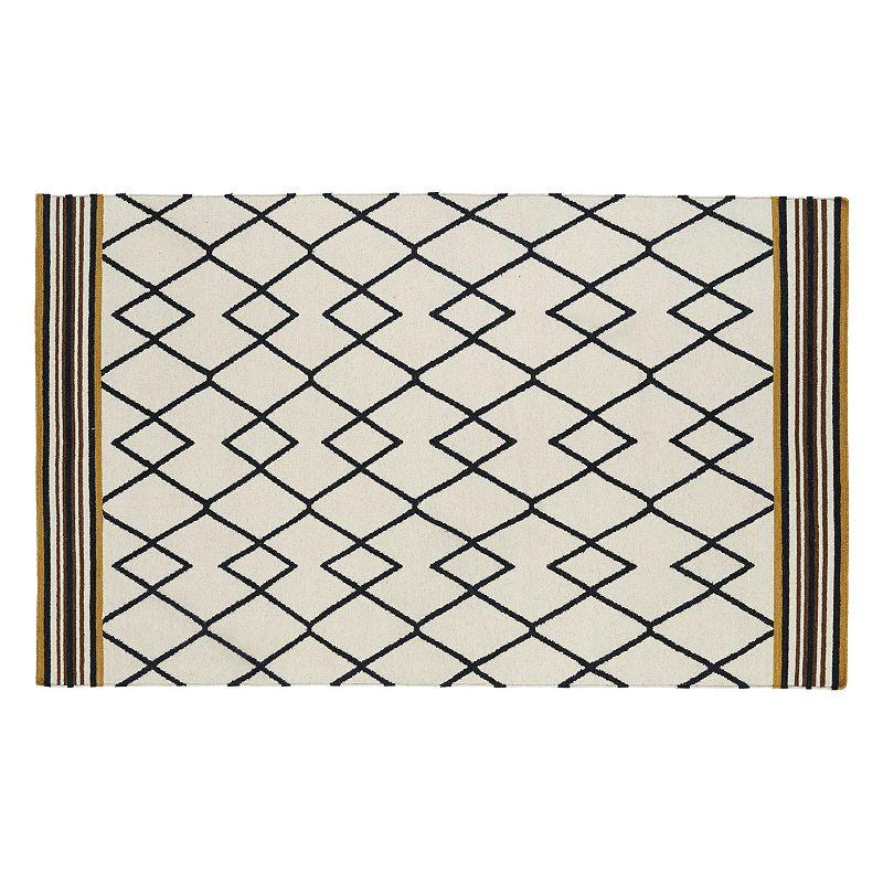 Kaleen Nomad Lines Reversible Wool Rug