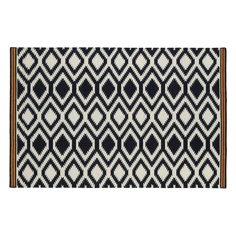 Kaleen Nomad Zig Zag Reversible Wool Rug