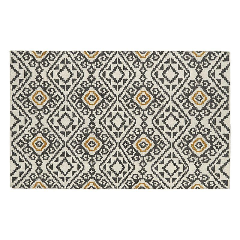 Kaleen Nomad Tribal Geometric Diamond Reversible Wool Rug