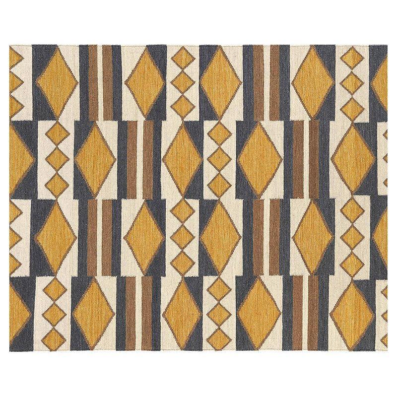 Kaleen Nomad Tribal Geometric Reversible Wool Rug