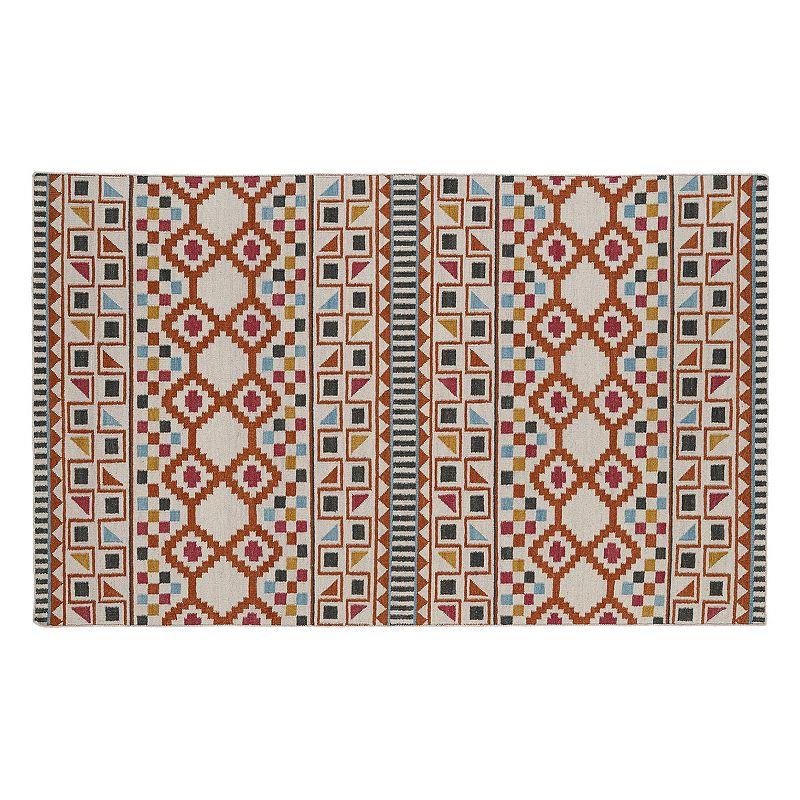 Kaleen Nomad Geometric Reversible Wool Rug