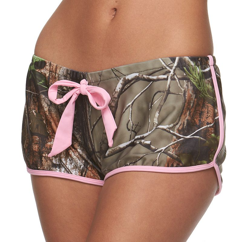 Juniors' Realtree Camouflage Cover-Up Swim Shorts