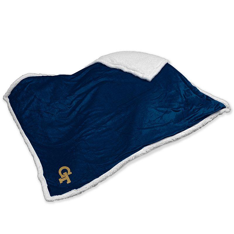 Logo Brand Georgia Tech Yellow Jackets Sherpa Blanket