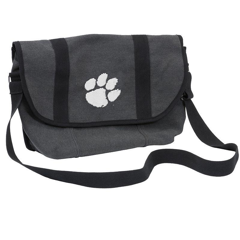 Logo Brand Clemson Tigers Varsity Messenger Bag