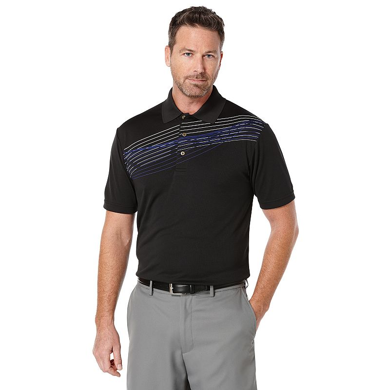 Men's Grand Slam Classic-Fit Airflow Linear Performance Golf Polo