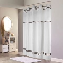 Hookless Plain Weave Monterey Lined Shower Curtain by
