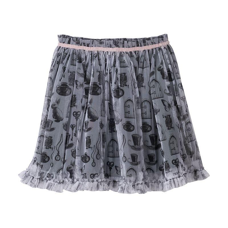 Disney D-Signed Alice in Wonderland Girls 7-16 Printed Tulle Skirt