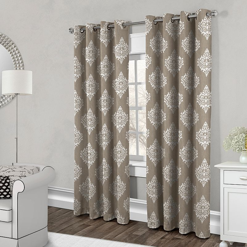 Exclusive Home 2-pack Damask Medallion Cotton Curtains