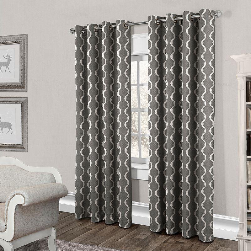 Exclusive Home 2-pack Wavy Trellis Cotton Curtains