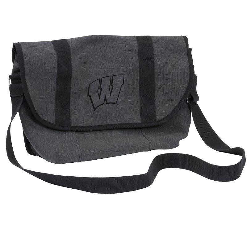 Logo Brand Wisconsin Badgers Varsity Messenger Bag