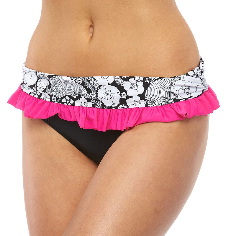 Women's Pink Envelope Fold-Over Bikini Bottoms