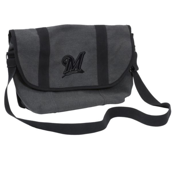 Logo Brand Milwaukee Brewers Varsity Messenger Bag