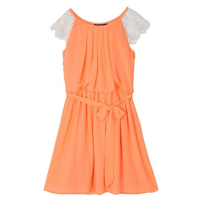 Girls 7-16 IZ Amy Byer Crochet Cap Sleeve Dress