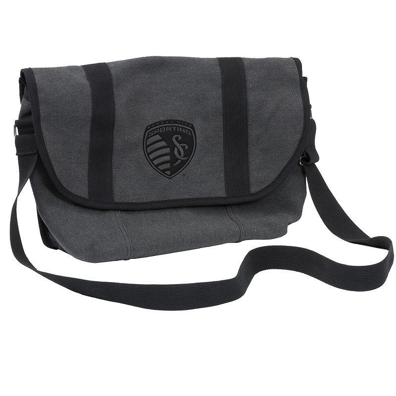 Logo Brand Sporting Kansas City Varsity Messenger Bag