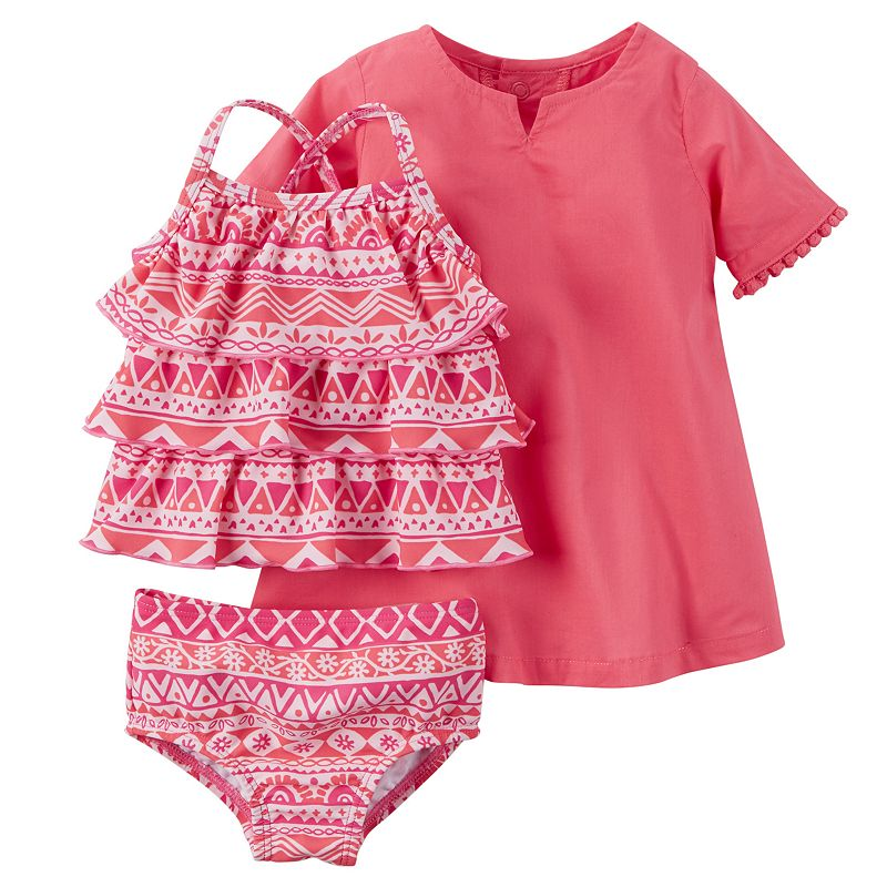 Baby Girl Carter's Swimsuit & Cover-Up Set