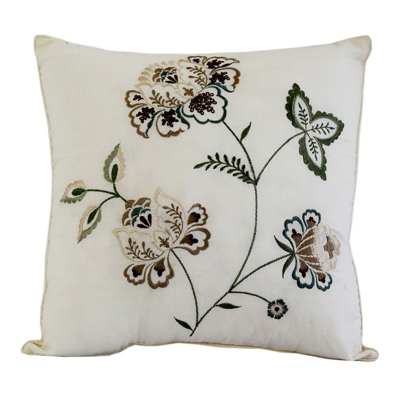 Always Home Flowering Vine Square Throw Pillow
