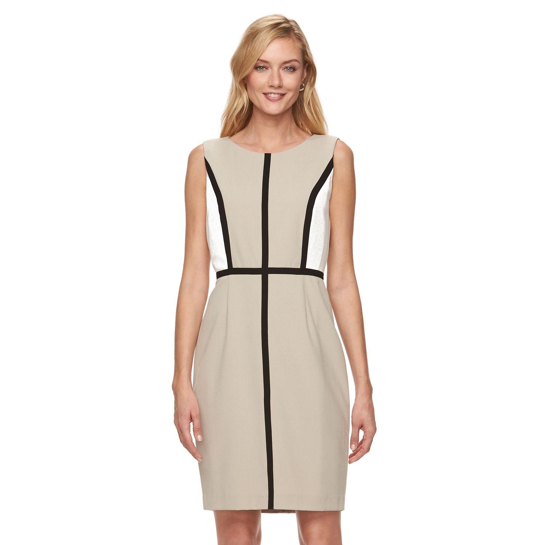 Womens Dana Buchman Colorblock Sheath Dress
