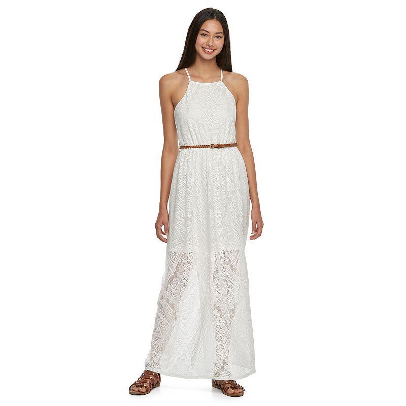 Juniors' Lily Rose Crochet Maxi Dress