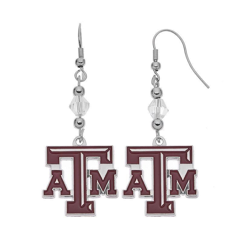 Texas A&M Aggies Team Logo Beaded Drop Earrings