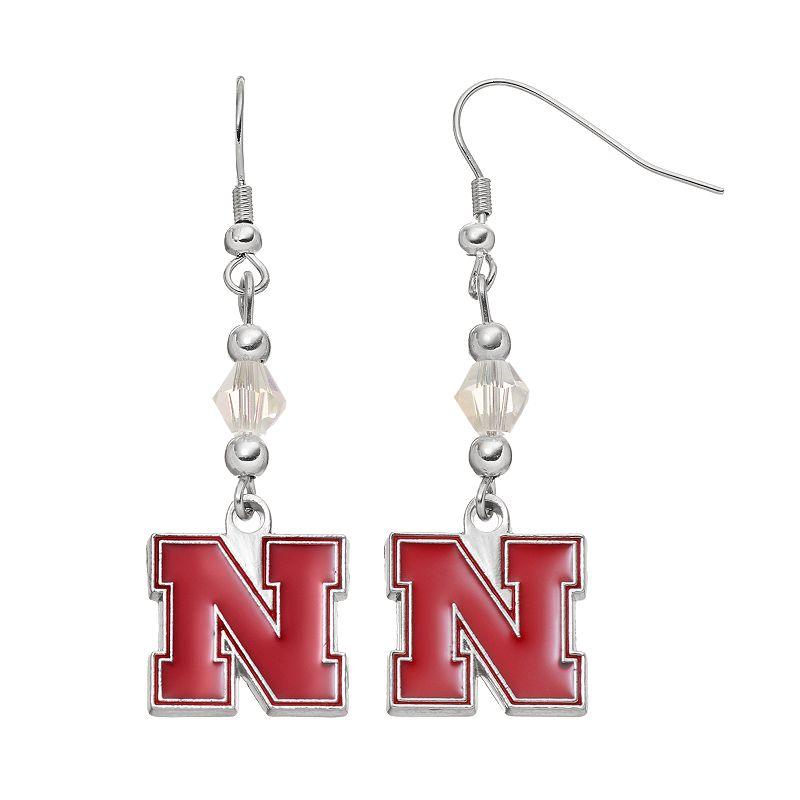 Nebraska Cornhuskers Team Logo Beaded Drop Earrings